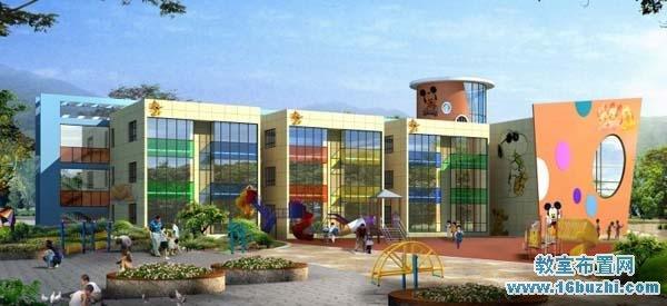 幼儿园外墙体彩绘设计图