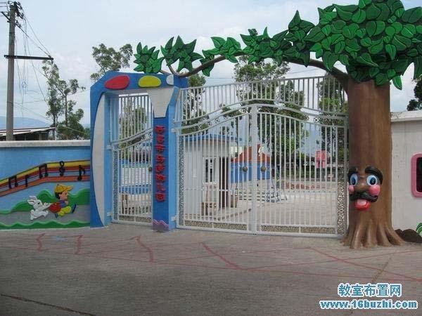 幼儿园大门装饰设计:大树公公