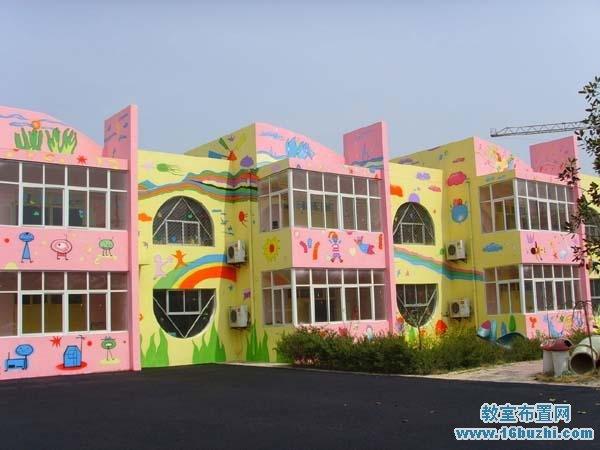 幼儿园外墙装饰_幼儿园外墙图案装饰图片_教室布置网