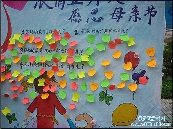 幼儿园母亲节主题墙布置图片