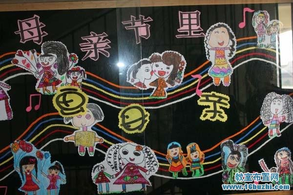 幼儿园母亲节环境布置图片