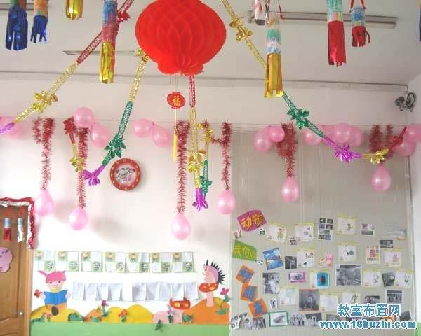 幼儿园元旦吊饰装饰图片