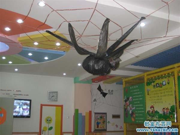 万圣节幼儿园教室门装饰图片