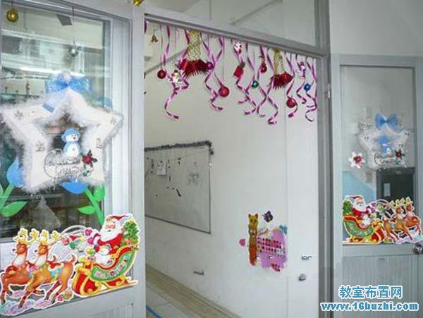幼儿园教室玻璃布置图片下载分享;   双面玻璃贴纸韩国贴画墙