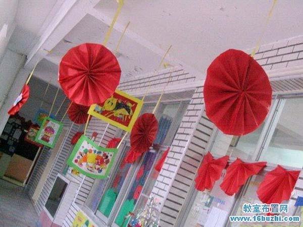 元旦教室布置设计图片 走廊装饰