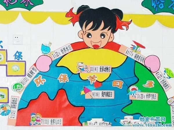 幼儿园有关环保的主题墙布置图片