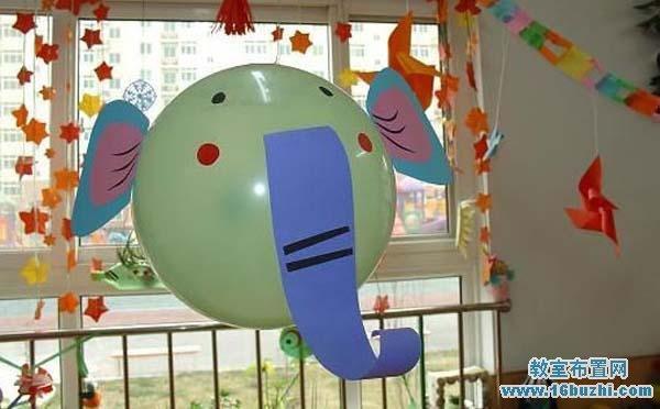 幼儿园玻璃窗户装饰布置