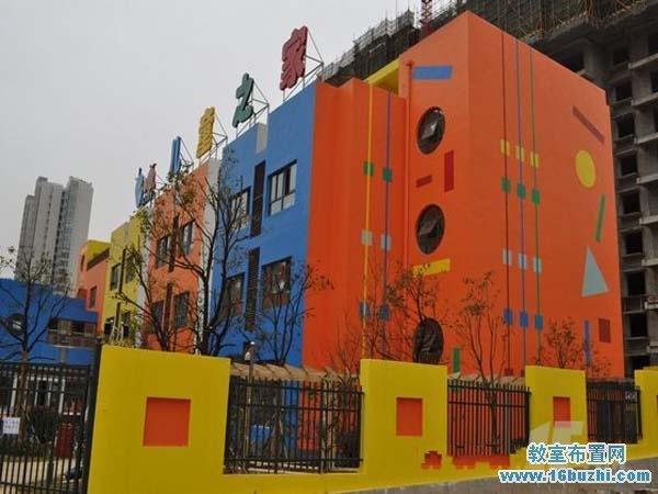 幼儿园外墙现代彩绘