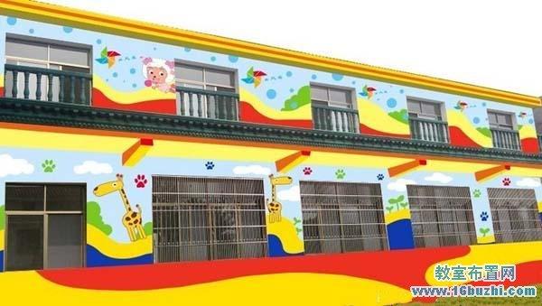 幼儿园外墙窗户彩绘设计