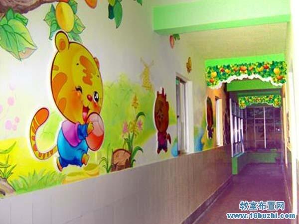 幼儿园走廊墙体主题彩绘图片