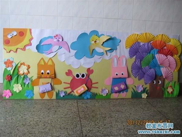 幼儿园走廊墙面手工装饰