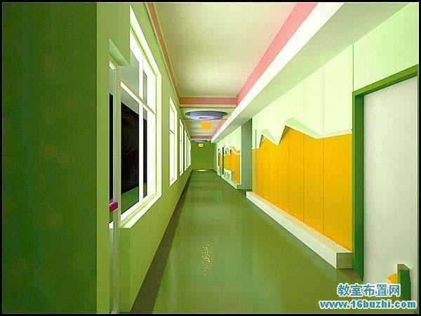 幼儿园楼道走廊设计效果图