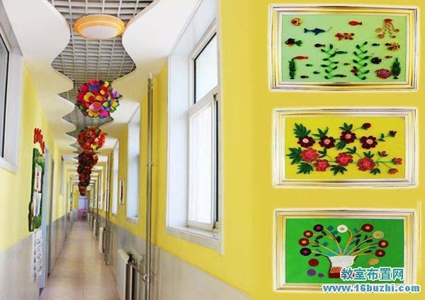 幼儿园大班教室装饰_幼儿园狭长的楼道长廊设计装饰_教室布置网