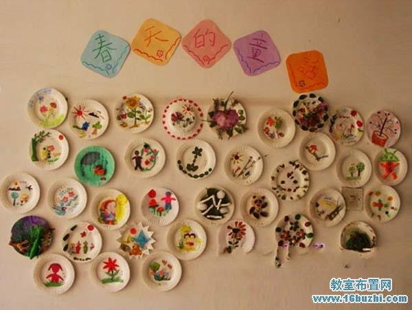 幼儿园春天教室墙面手工装饰:春天的童话