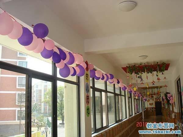 幼儿园六一儿童节楼道节日装扮图片