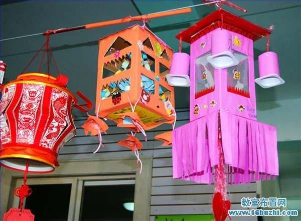 幼儿园元宵节手工花灯吊饰