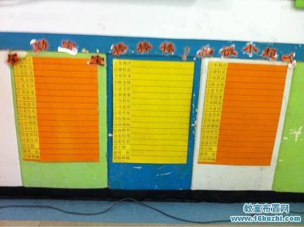 幼兒園紅花評比表設計