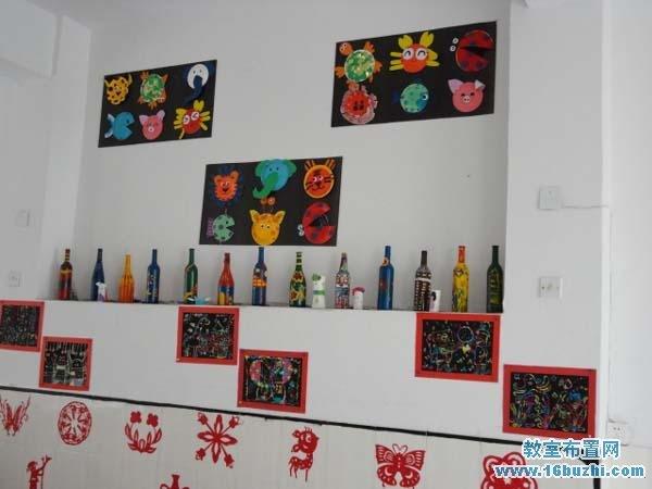 幼儿园美工作品展示区布置图片