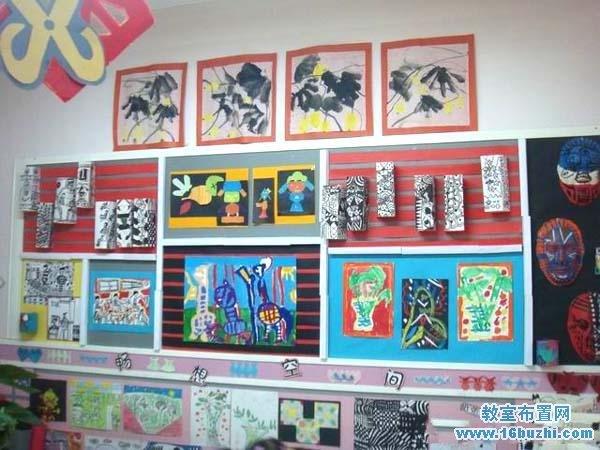 幼儿园美工区墙面背景图设计