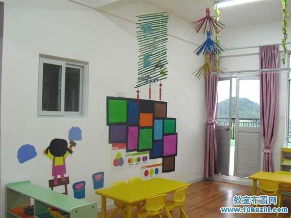 幼儿园漂亮的美工区装饰设计