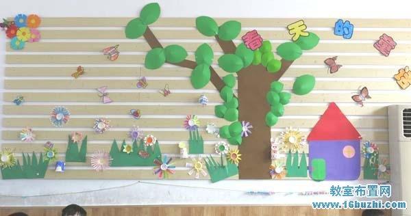 幼儿园小班春天主题墙饰:春天的童话_教室布置网