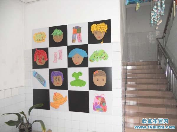 幼儿园楼梯口环境布置图片