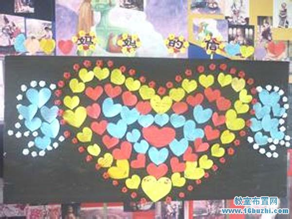 幼儿园小班母亲节主题墙布置:妈妈的信
