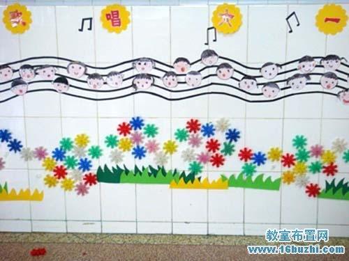 幼儿园小班六一节墙面装饰