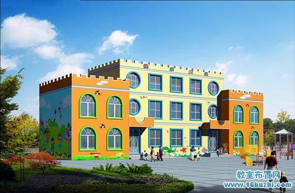 幼儿园教学楼图片_幼儿园教学楼效果图设计_教室布置网