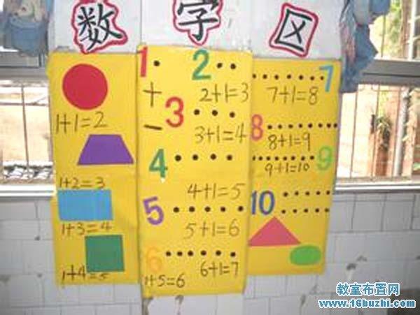 幼儿园数学区角布置图片_教室布置网图片