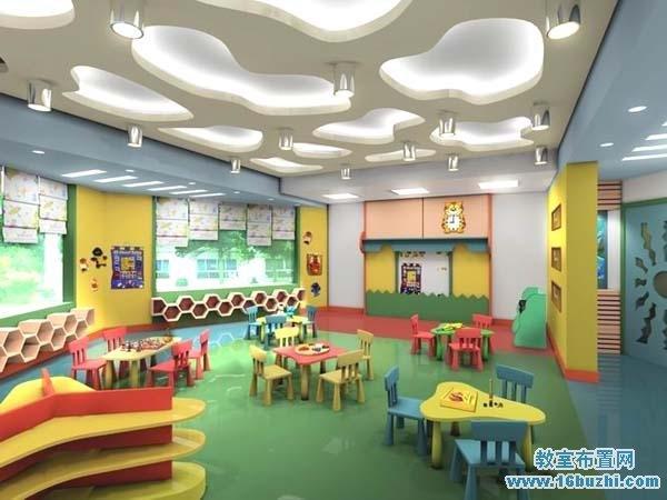 高中教室室内设计效果图_教室布置网