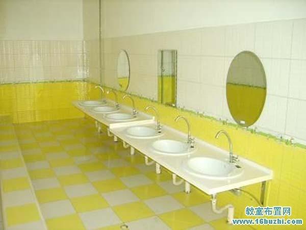 幼儿园洗手间洗手台设计