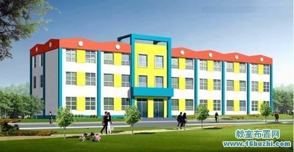 幼儿园建筑外观效果图
