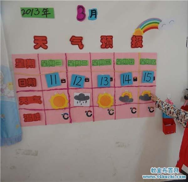 幼儿园天气预报墙饰布置图片