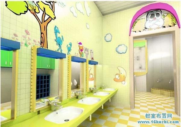 幼儿园洗手间环境布置图片