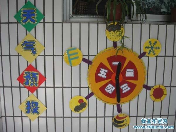 幼儿园墙面天气预报墙饰装饰