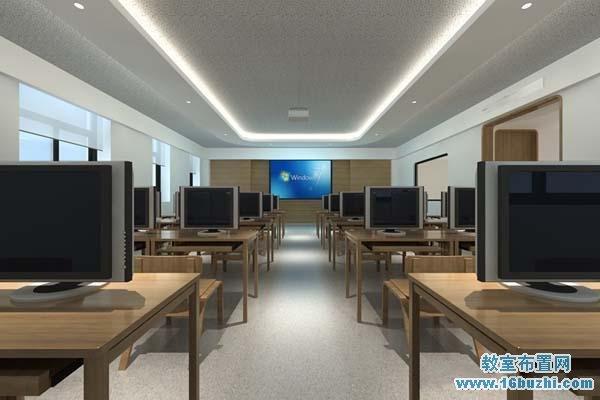 计算机教室装修效果图_教室布置网