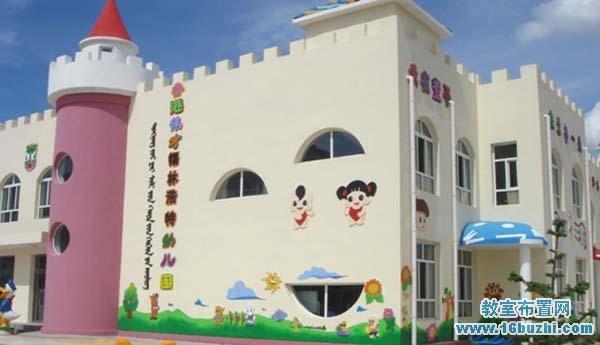 幼儿园外墙可爱图案设计图片