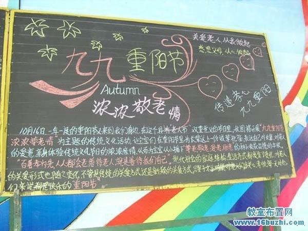 幼儿园重阳节黑板报设计图片_教室布置网