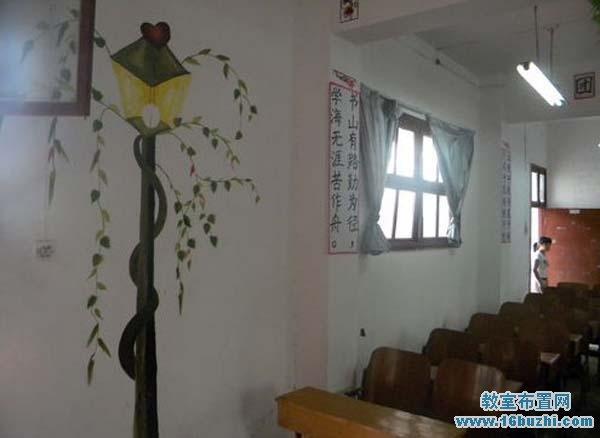 班级卫生角设计_高中班级墙面漂亮装饰_教室布置网