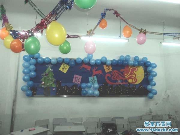 圣诞节中学教室环境布置图片图片