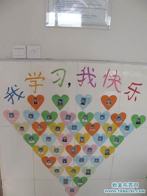 初中班级文化墙面布置:我学习我快乐