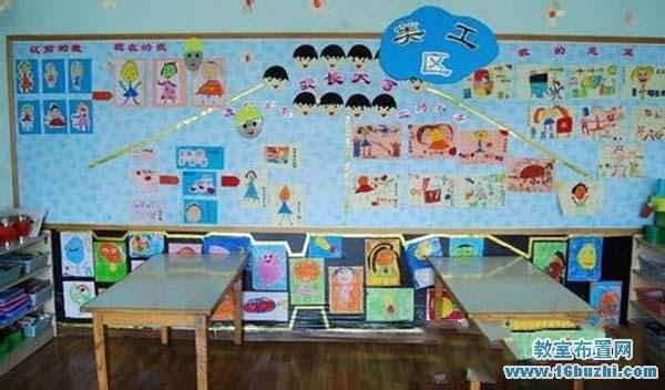 幼儿园美工区墙面装饰图片