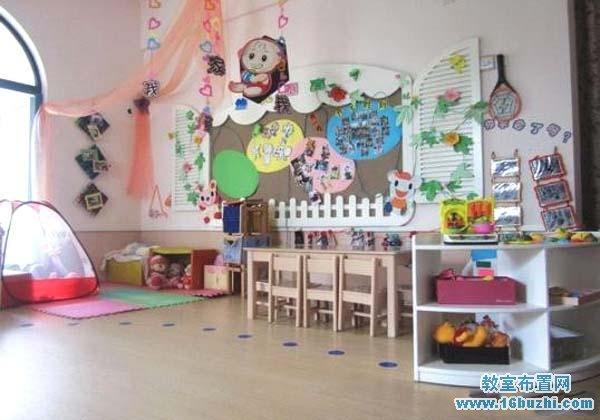 幼儿园大班娃娃家区角布置图片