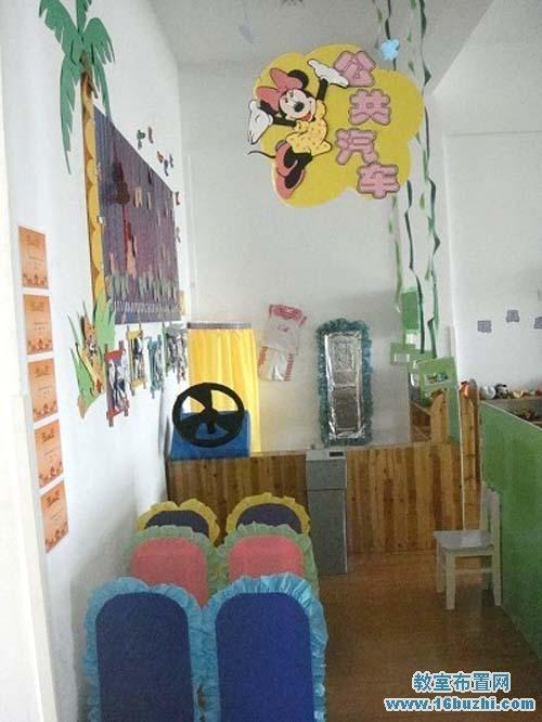 幼儿园公共汽车简笔画内容图片展示