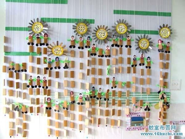幼儿园评比栏手工布置图片:竹子开花节节高