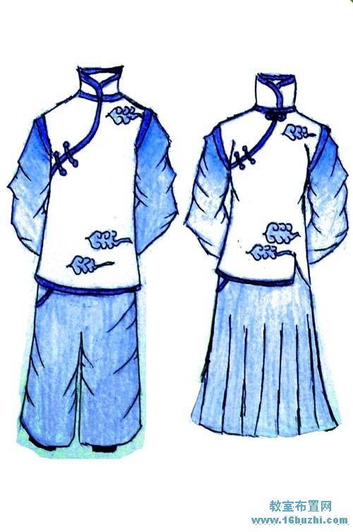 汉元素校服设计图案