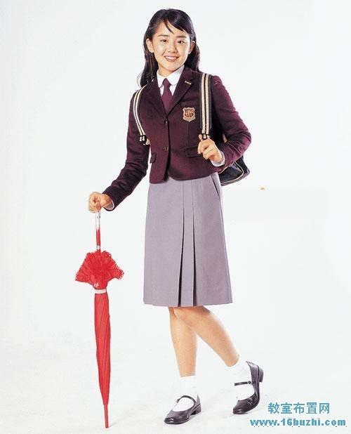 日本中学生女生校服设计图片_教室布置网图片