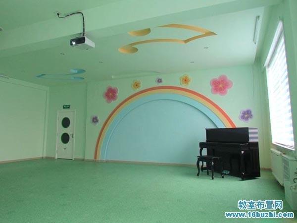 幼儿园音乐教室吊顶墙面装修设计图片