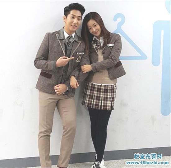 韩国高中生校服款式设计图案